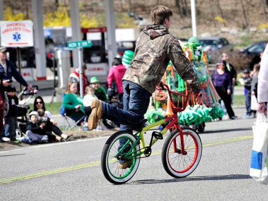 The 2016 St. Patrick's Day Parade in Ringwood was held on April 2. The parade always ends the holiday parade season to ensure band availability.