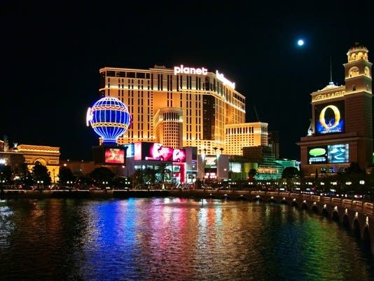 The Bellagio and Planet Hollywood hotels