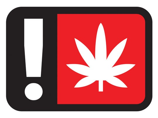 Marijuana warning symbol