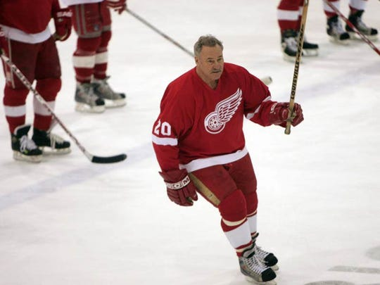Former Red Wings forward Mickey Redmond did his part to help raise funds for the Dearborn Firefighters Burn Drive at the Dearborn Ice Skating Center on March 8, 2009.