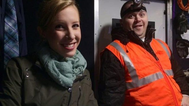 This undated photograph made available by WDBJ-TV shows reporter Alison Parker, left, and cameraman Adam Ward. Parker and Ward were fatally shot during an on-air interview last week in Moneta, Va.