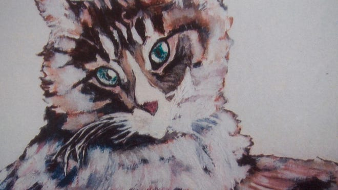 """Cat Portrait"" Colored Pencils, by Earl Thompson"