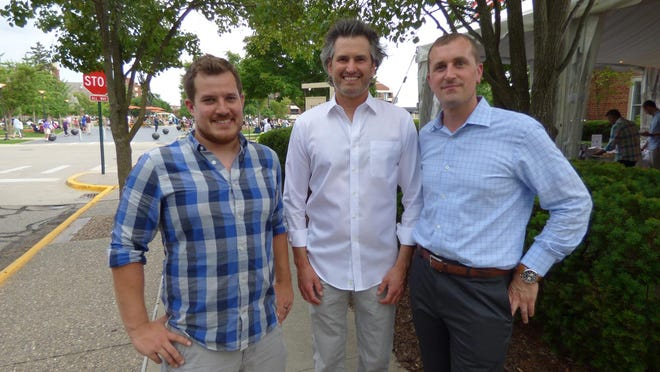 PAC Community Services Committee chair Dustin Hennigar of Royal Oak and PAC co-chairs and Birmingham residents Jeffrey Imerman and Jeff Bagalis.