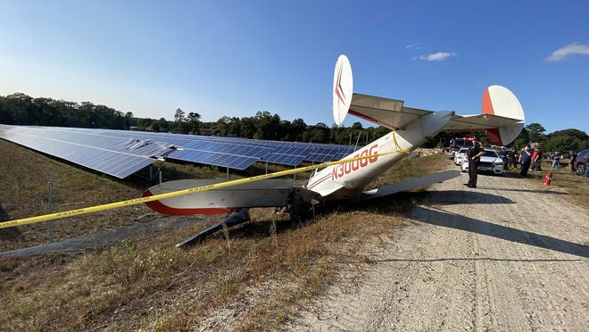 This single-engine plane crashed at Harvest Acre Farms in Richmond Monday afternoon while attempting an emergency landing. It is a 1959 Forney Aircoupe (Ercoupe) Model F-1.