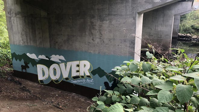 A new mural is seen Tuesday on the Dover Community Trail.