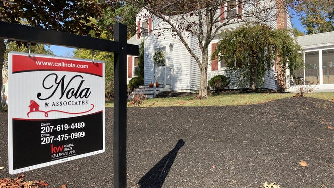 A home for sale this week on Glenwood Avenue in Dover. Single-family home sales in Strafford County increased by 10.8% in September.