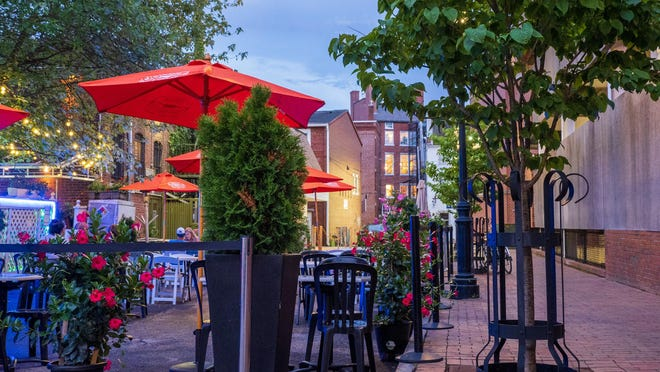 The Portsmouth Gas Light restaurant benefited from being able to use an alleyway between its property and the Hanover Street garage this summer as COVID-19 required the innovative use of outdoor spaces.