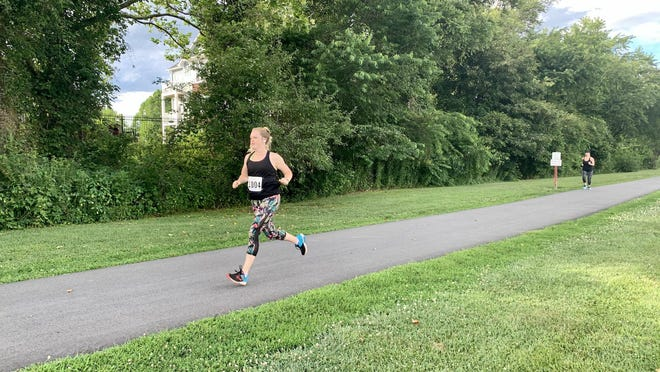 A runner competes in a past idaph event at Fletcher Park.