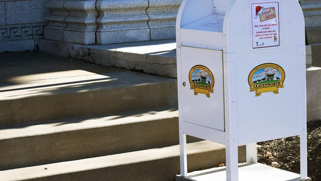 A drop box in front of Leavenworth City Hall can be used for letters to Santa Claus.