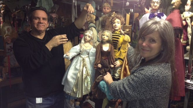 """Nashville Public Library's Wishing Chair Productions (puppeteers Brian Hull and Mary Tanner Bailey pictured) will bring its performance of """"The Legend of Sleepy Hollow"""" to the main branch this month."""