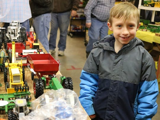 Liam Peters, 7, of Fremont, enjoyed browsing at the toy show this past weekend.