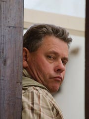 Theodro Bronkhorst, a professional hunter, arrives for his appearance at the magistrates courts in Hwange about 700 kilometres south west of Harare, Wednesday, July 29, 2015.