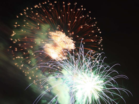 Fireworks displays are scheduled to celebrate Independence
