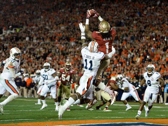 Former Florida State wide receiver Kelvin Benjamin was one of six players that handed in plagiarized work for an online hospitality class in the summer of 2013.
