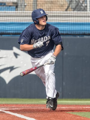 Wolf Pack outfielder Cole Krzmarzick has blossomed into one of the team's top hitters as a sophomore.