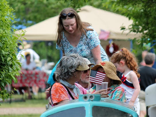 The Milton Lions Club conducted the train rides for