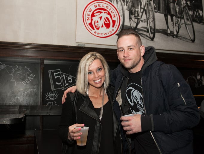 Kendra Steuhm, 32, and Nick Borror, 34, at Wooly's