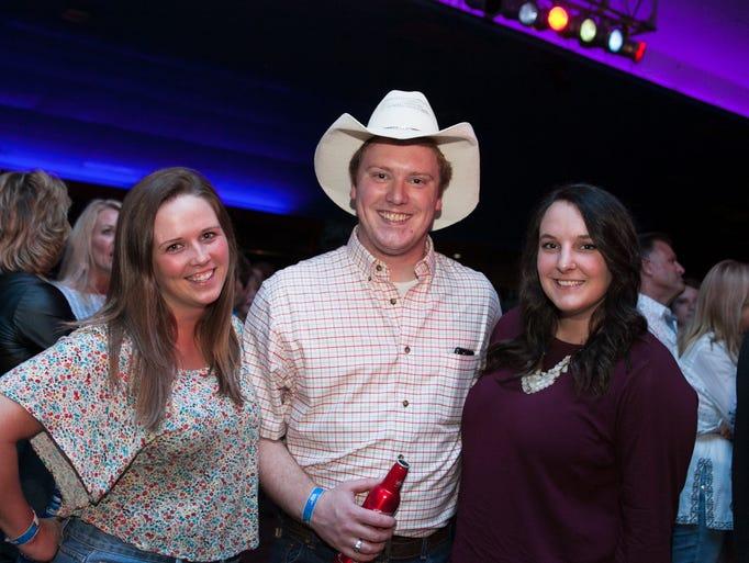 Megan Lewis, 23, Tom Woody, 25, and Sadie Vorbrich,