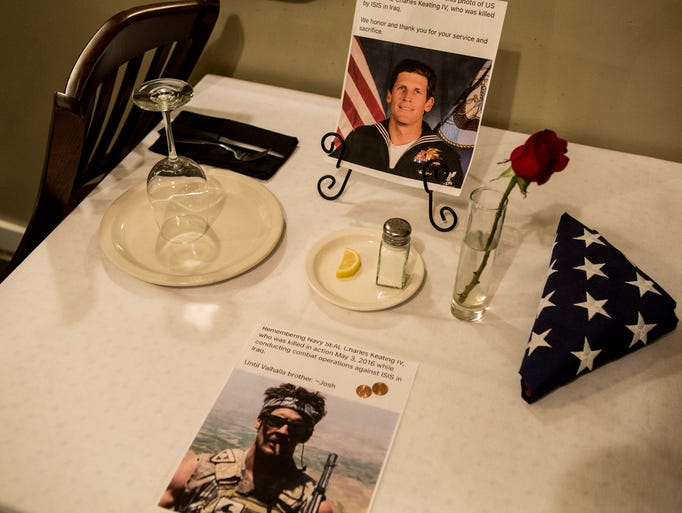 November 18, 2016 - A honorary table for veterans who