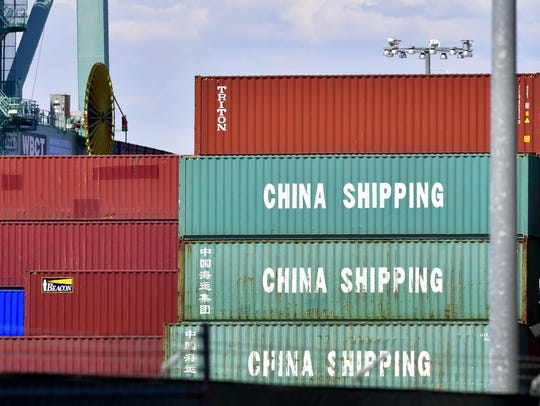 (FILES) In this file photo taken on July 6, 2018 Containers