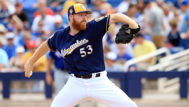 The Brewers' Brandon Woodruff allowed two hits and one run over four innings in his first spring start.