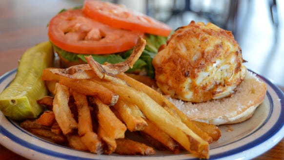 The Ocean City Fish Company's famed crab cake is featured