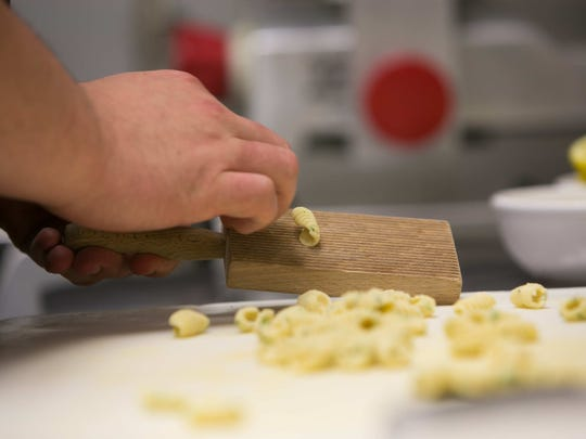 Handmade cavatelli pasta is one of the ingredients