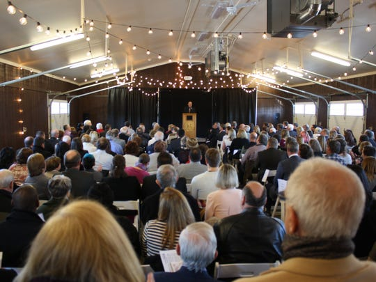 Many spectators had to stand during the packed inauguration ceremony at the Broome County Regional Farmers Market.