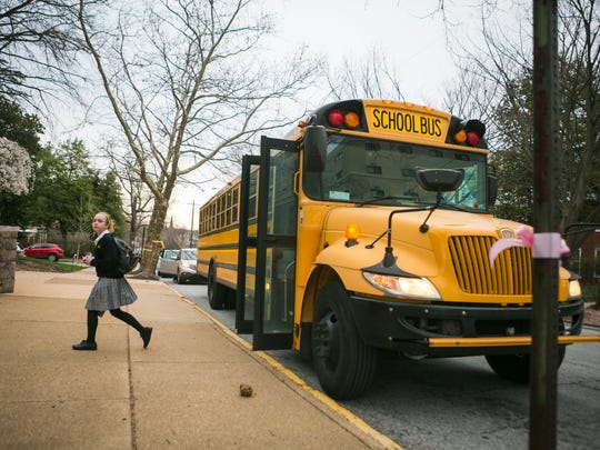 Padua Academy students arrives at school early Monday