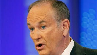 "This file photo shows Fox News commentator Bill O'Reilly during a taping for ""The O'Reilly Factor,"" in New York."