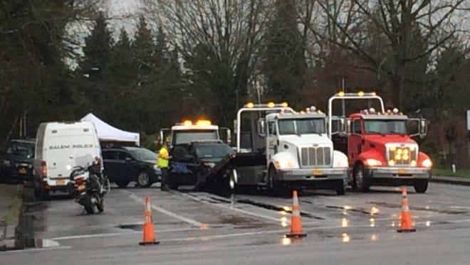 Crash on Verda Lane Wednesday, February 9, 2016.