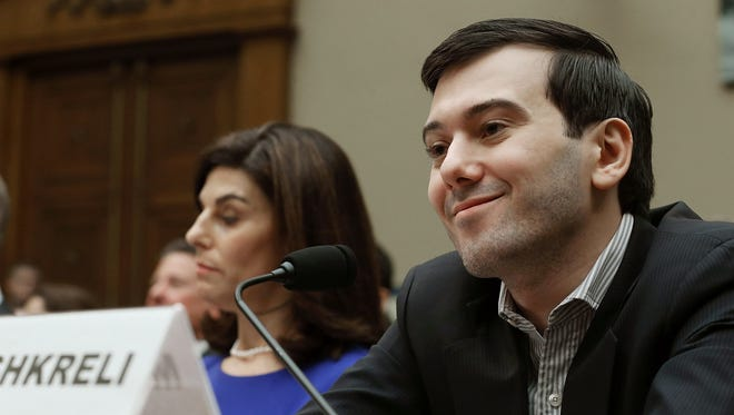 File photo shows former Turing Pharmaceuticals CEO Martin Shkreli during a House Oversight and Government Reform Committee hearing on drug pricing and distribution policies. He invoked his 5th Amendment right not to testify during the session.
