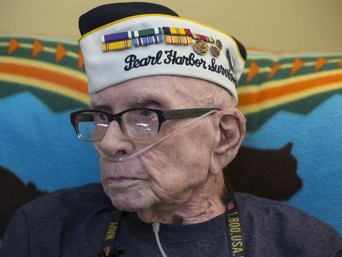 A portrait of Pearl Harbor survivor Marvin Rewerts,