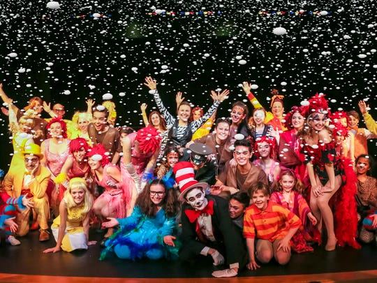"Because of last weekend's snowstorm, ShowKids Invitational Theatre's all new production of ""Seussical"" will now be staged Jan. 30 to Feb. 7, with performances presented at: 2 and 7:30 p.m. Saturday, Jan. 30; 2 p.m. Sunday, Jan. 31; 2 and 7:30 p.m. Saturday, Feb. 6; and 2 pm. Sunday, Feb 7. All six performances will take place at Voorhees High School, 256 Country Road 513, Glen Gardner. The entire ""Seussical"" cast is shown here. Tickets for the originally scheduled performances on Jan. 23 will be honored at the same performance time on Feb 6, and tickets for Sunday, Jan. 24 will get you in the door on Feb. 7. Tickets are $20 or less, and can be purchased directly at www.showkids.org or by calling the SKIT ticket line at 908-638-5959."