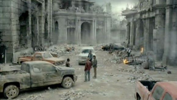 2012 Super Bowl Chevy Silverado ad show the Chevrolet pickup -- and not a Ford F-150 -- wil even get you through the apocalypse.