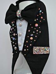 Dog Tuxedo, Swarovski Crystal Bling $200, KOCouture