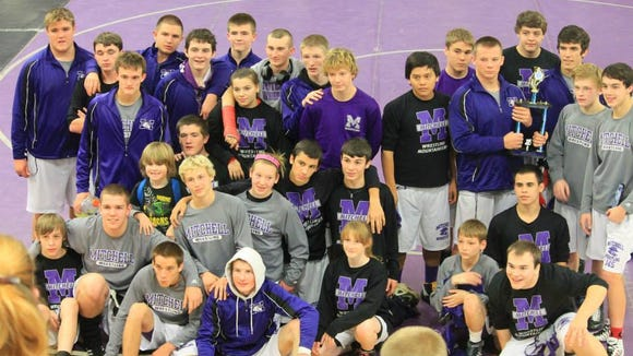 The Mitchell wrestling team.