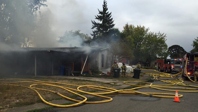Salem Fire responds to mobile home fire near Fisher Road.