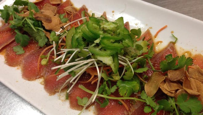 Cajun Tuna Sashimi from Origami in south Fort Myers.