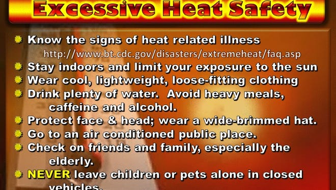 The National Weather Service has issued a heat advisory for El Paso County.