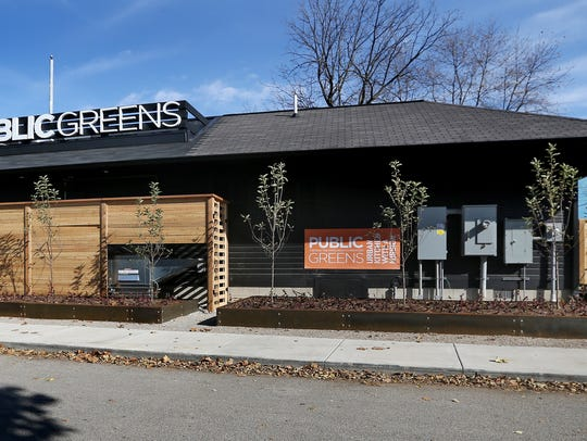 "Public Greens restaurant, a ""farm market-inspired cafeteria,"" on the Monon Trail at 902 E. 64th St. in Broad Ripple."