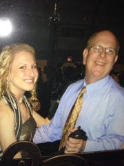 Alyssa Newman, 22, went to the first Indianapolis Colts game at Lucas Oil Stadium with her dad, Dennis.