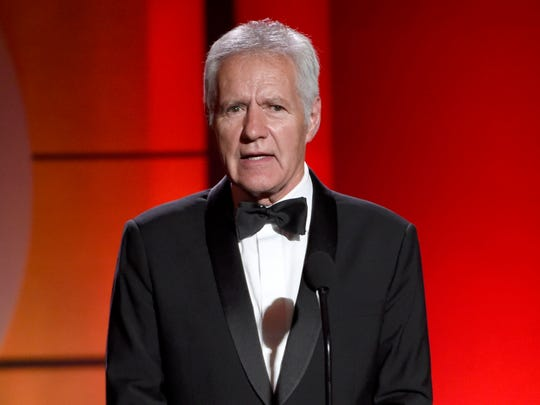 Alex Trebek speaks at the 44th annual Daytime Emmy