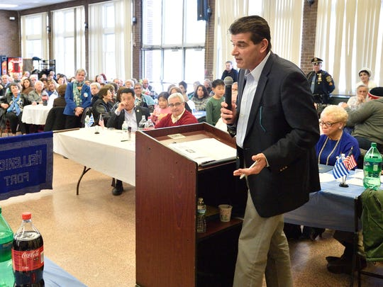 Fort Lee Mayor Mark Sokolich at the annual Hellenic Civic Club celebration of Greek Independence Day.