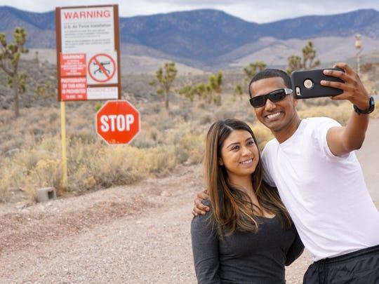 Reece D'Silva (holding camera) and Alexis Esparza take