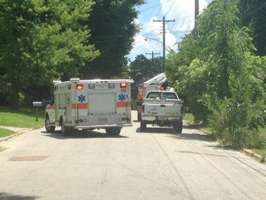 A Charter Communications employee was taken to a local