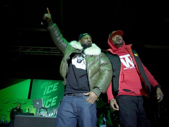 Ghostface Killah and Method Man of Wu-Tang Clan perform onstage at the Mtn Dew ICE launch event on January 18, 2018 in Brooklyn, New York.