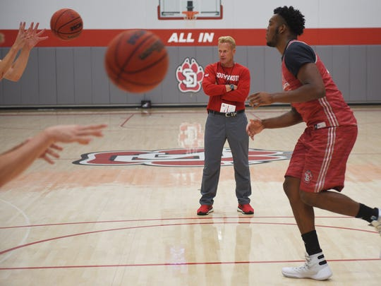 First-year USD men's basketball coach Todd Lee works