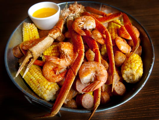 Hull & High Water seafood restaurant's shrimp and crab boil