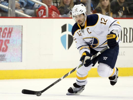 Greece native Brian Gionta (12) was captain of the Buffalo Sabres for three seasons. His sights are now on the 2018 Olympic Games.